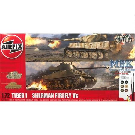 Classic Conflict Tiger 1 vs Sherman Firefly  1/72