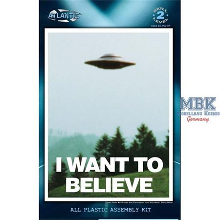 I Want To Believe UFO Flying Saucer (Billy Meier)