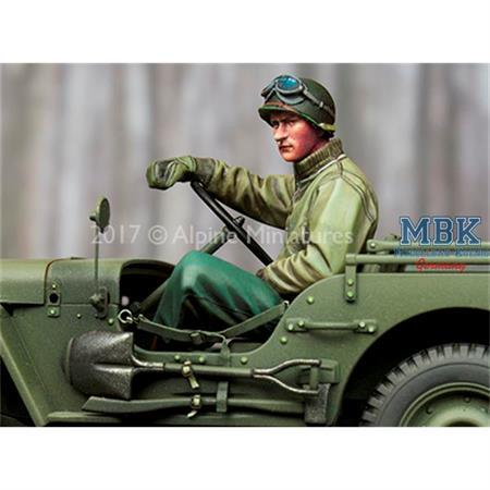 WW2 US Jeep Driver Winter  1/35
