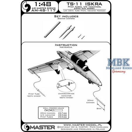 TS-11 Iskra - Pitot Tubes and 23mm gun barrel 1:48