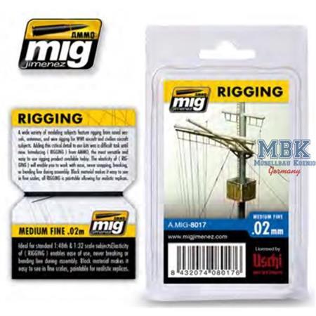 RIGGING – MEDIUM FINE 0.02 MM
