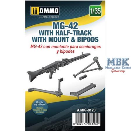 MG-42 with Half-Track Mount and Bipods 1:35