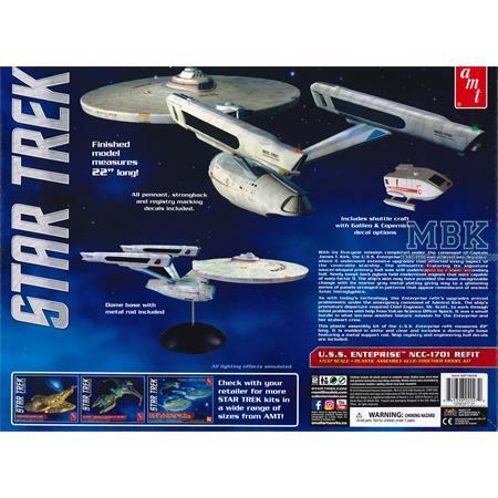 Star Trek U.S.S. Enterprise Refit + Shuttle