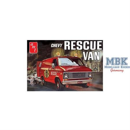 1975 Chevy Rescue Van (Krankenwagen) (Red Color)