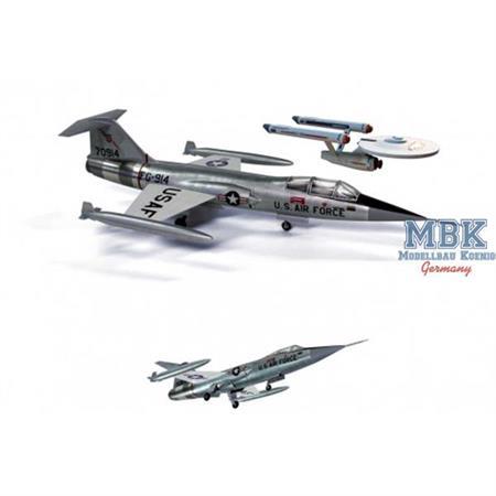 Star Trek F-104 Starfighter (+ Mini Enterprise)