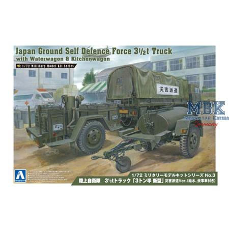 JGSDF 3 1/2T TRUCK WITH WATERWAGON & KITCHENWAGON
