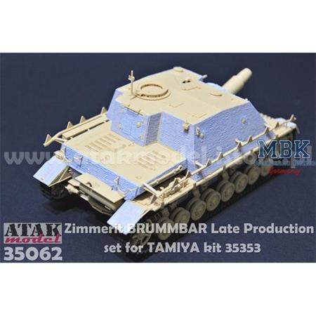 Zimmerit für Brummbär LATE production (Tamiya)