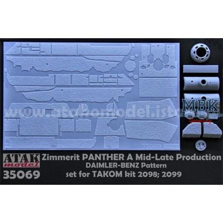Zimmerit für Panther A late DB Takom 2098 2099