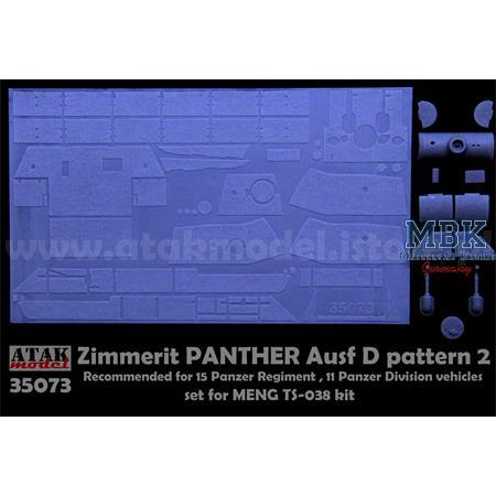 Zimmerit für Panther D pattern 2 - Meng
