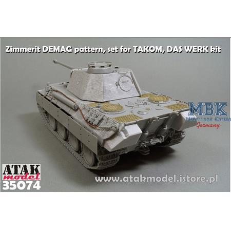 Zimmerit für PantherA early DEMAG - Takom/Das Werk