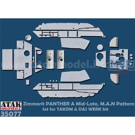 Zimmerit Panther A Mid - Late MAN Pattern