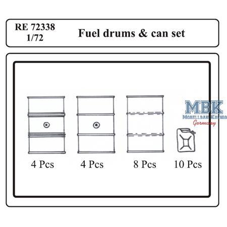 Fuel Drums & Can set 1/72
