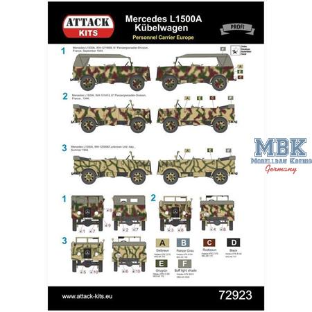 Merce L1500A Personal Carrier West + South Eur1/72