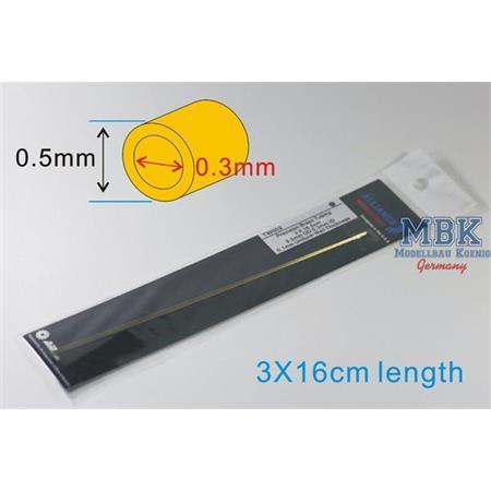 Precision Brass Tubing 0.5mm OD 0.3mm ID 0.1mm Uni