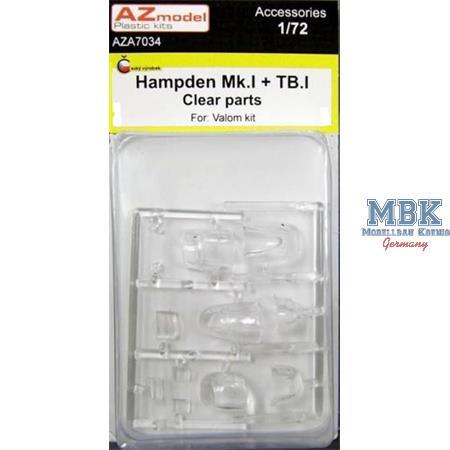 Hampden Mk.I+TB.I Clear parts