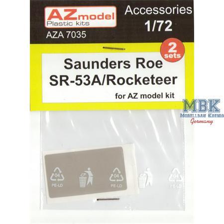 Saunders-Roe SR-53 Canopy + wheel masks 2 sets