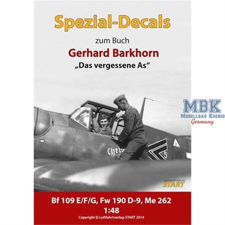Decalbogen Jagdflieger Gerhard Barkhorn 1:48