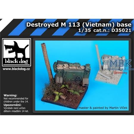 Destroyed M 113 Vietnam base