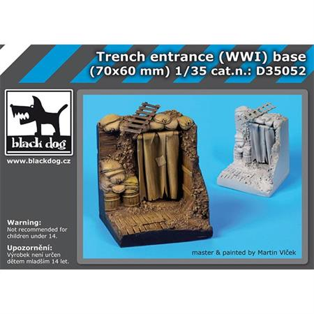 Trench entrance WWI base (70x60 mm)