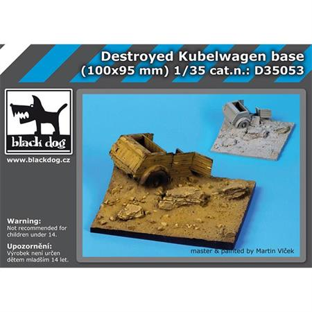 Destroyed Kübelwagen base