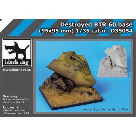 Destroyed BTR 60 base (95x95 mm)