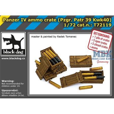 Panzer IV ammo crate /  Munition + Kisten  1/72