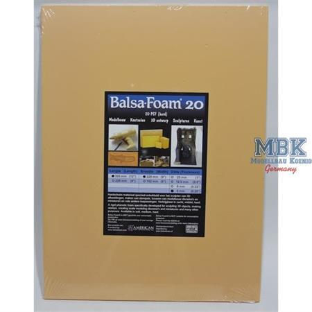Balsa-Foam Hartschaumplatte 305x228x6mm 20PCF #12