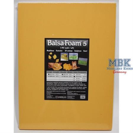 Balsa-Foam Hartschaum 305x228x12,5mm 5PCF #15