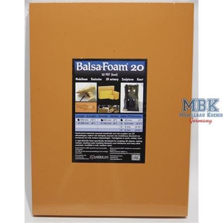Balsa-Foam Hartschaumplatte 305x228x25 20PCF #20