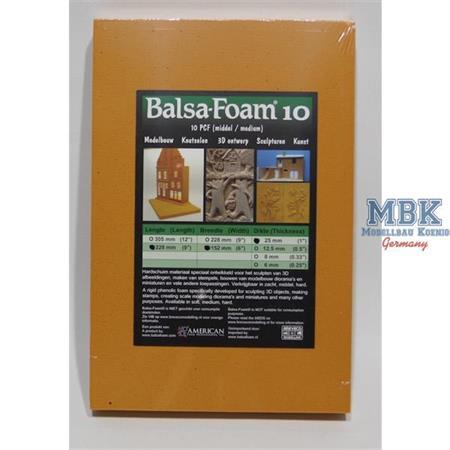 Balsa-Foam Hartschaum 228x152x25mm 10PCF #9