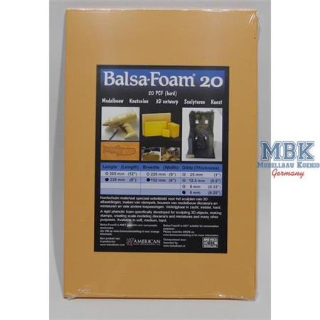 Balsa-Foam Hartschaumplatte 228x152x6mm 20PCF #2