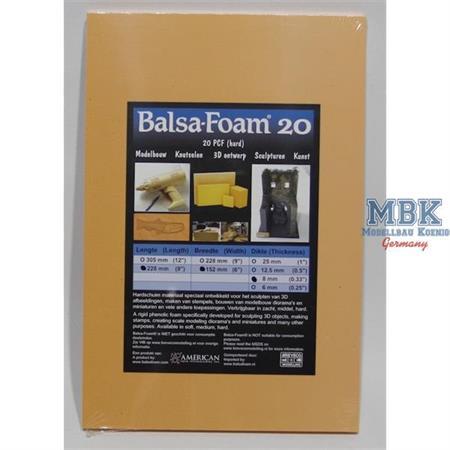 Balsa-Foam Hartschaumplatte 228x152x8 20PCF #4