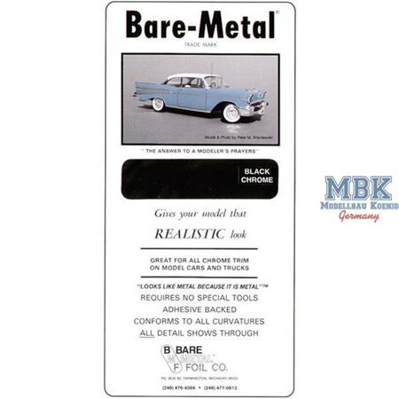 BARE METAL FOIL Black-Chrome (self adhesive)