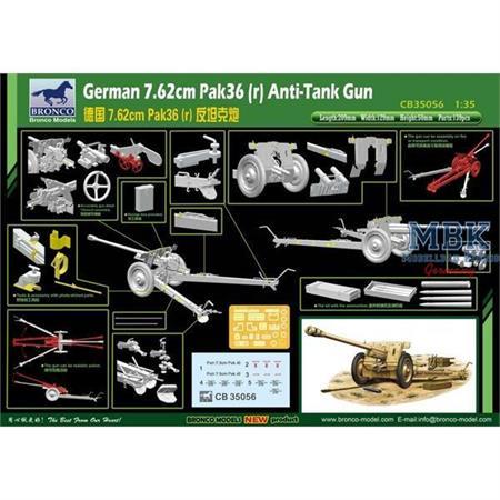 German 76,2mm PaK36(r) Anti Tank Gun