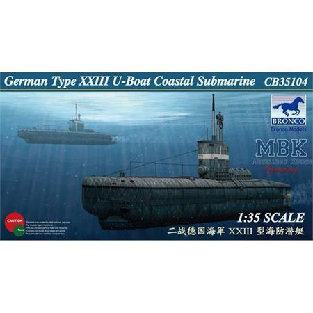 German Typ XXIII U-Boat (Küsten U-Boot)