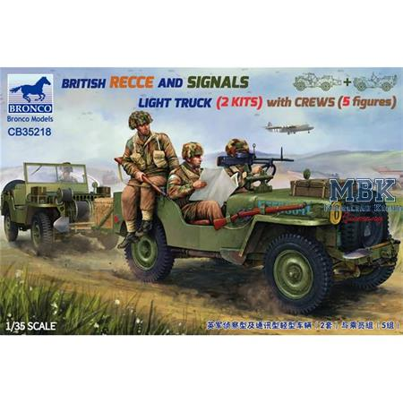 British Recce And Signals Light Truck + Crew
