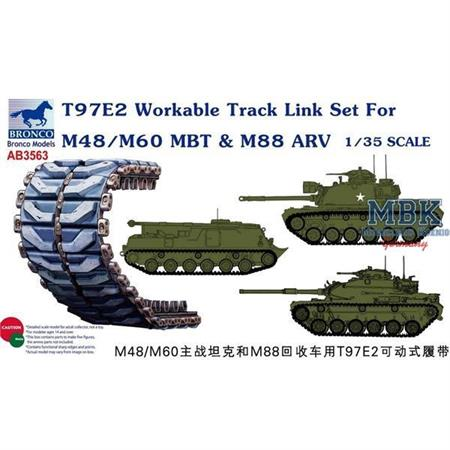 T97E2 Workable Track Link Set for M48/M60