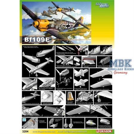 Messerschmitt BF109E-4 (Wing Tech) ~ Cyber Hobby