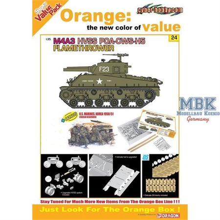 M4A3 HVSS POA-CWS-H5 Flamethrower (Orange Box)