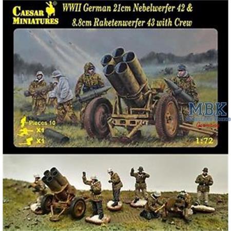 German Nebelwerfer 42 & Raketenwerfer 43 with Crew