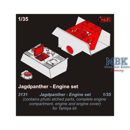 Jagdpanther engine set for TAMIYA