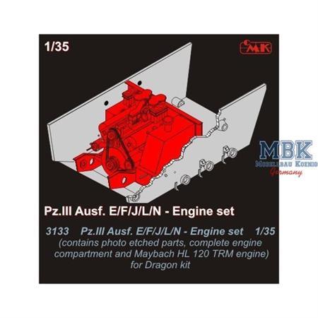 Pz.III Ausf. E/F/J/L/N engine set for DRAGON