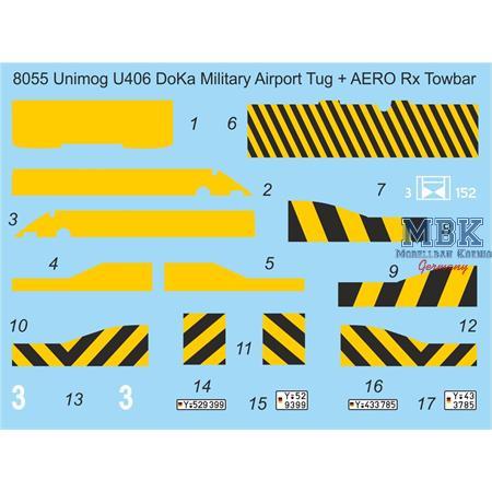 U406 Doka Military Airport Tug + AERO Towbar
