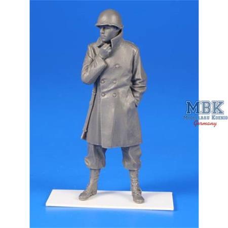 US WWII Soldier w/winter coat Belgium 1944