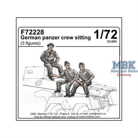 German panzer crew sitting