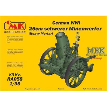 German WWI 25cm schw. Minenwerfer / Heavy Mortar