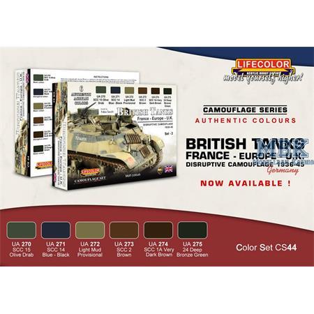 British Tanks Set 2 Europe France UK 1936-45