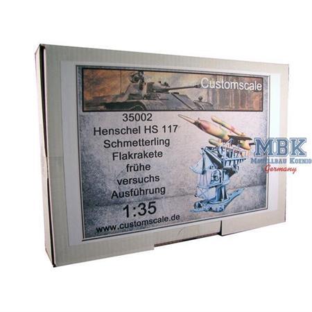 HS117 Schmetterling Flakrakete, frühe Versuchsver.
