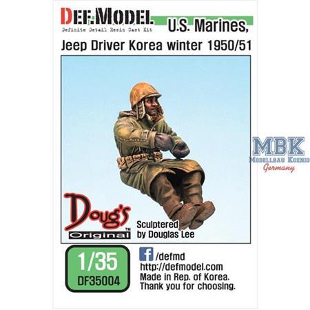US Marines Jeep Driver Korea Winter 1950/51