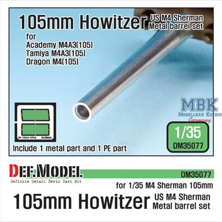 US M4 Sherman 105mm Howitzer metal barrel set